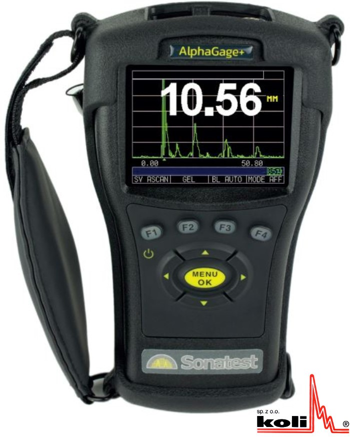 AlphaGage+, Thickness gauge, Sonatest, UTT, Thickness measurement