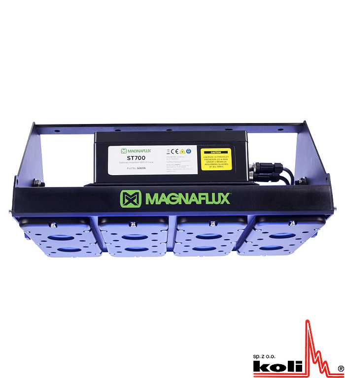 Magnaflux ST700, UV-A lamp, magnetic particle inspection MPI, penetrant testing PT, fluorescent inspection